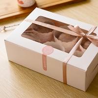 White Six Muffin Box,CUPCAKE cake box with Window 20PCS/LOT