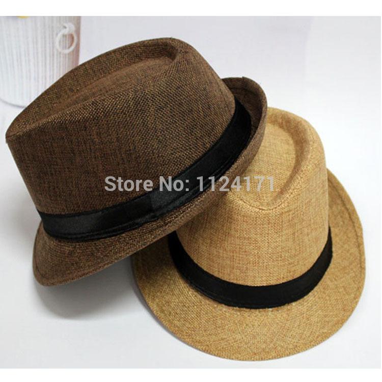 Fashion Womens Mens Unisex Visor Fedora Cap Summer Beach Floppy Sun Straw Hats for Women Men Panama Hat Jazz Caps(China (Mainland))