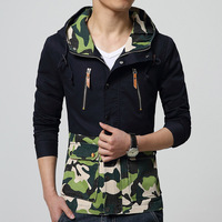 2015 New Arrival Spring Autumn Popular Men's Clothes Slim Jacket Outerwear Male Fashion Casual Zipper Hoodies Coat Top Quality