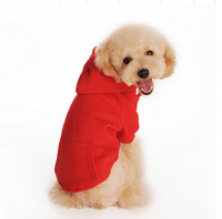 Free Shipping 2015 Fashion Dog Clothes Sweater Super Pet Clothing T-Shirt 4 Colors Size XS-XXL