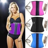 Deportiva sport latex waist cincher trainer womens steel boned underbust rubber corset hooks bustier shapewear corselets s-3xl