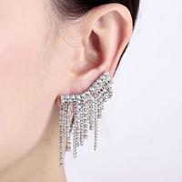 Tassel Ear Cuff Earrings Gothic Punk Wrap Clip on Cartilage Ear Upper Studs Gold/Silver Pierced Jewelry Accessories Women