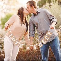 """""""LOVE IS SWEET"""" DIY  Handmade Wedding photo booth props banner enfeites de casamento garland casamento gift favors-Free Shipping"""