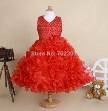 Wholesale 2015 New Style girls wedding dress girls princess dress party dress flowers dress size 90