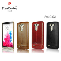 Pierre Cardin Luxury Genuine Leather Cover Hard Back Case For LG G3 3 Colors For Select