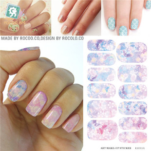 K5711B Water Transfer Foil Nails Sticker Pink Flower Design Nails Stickers Manicure Styling Tools Water Film Paper Decals(China (Mainland))