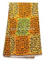 African Women Clothes Super Deluxe Wax Orange Triangle 100% Cotton Textile sw213100