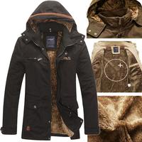 Men Jacket Coat Winter Warm Overcoat Casual Slim Fit Trench Parka