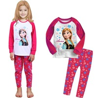 new fantasia movie costume clothes new princess girls pajama set cartoon print baby kids sleepwear long children sleepwear