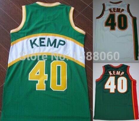 produto Hot Sale New #40 Shawn Kemp Basketball Jersey Cheap Mens Retro Blue New Embroidery Classic Sport Shirt Wholesale Rev30 Jerseys
