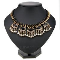 Fashion women vintage pendant necklaces Lady Charm Alloy Chain choker statement necklace Drop Shipping B26