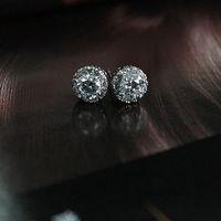 Hot Cute White 1Pair Women Fashion Jewelry Crystal Zircon Rhinestone Earrings Stud Earring For Sale
