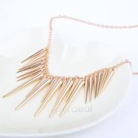 2014 manufacturer women new fashion restoring ancient ways rivet punk necklace 2 colors free shipping B19 19707