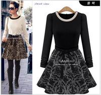 2015 Winter Long Sleeve Slim Hip Casual Autumn Dress Bodycon Dresses Women Work Wear OL Dress Vestidos