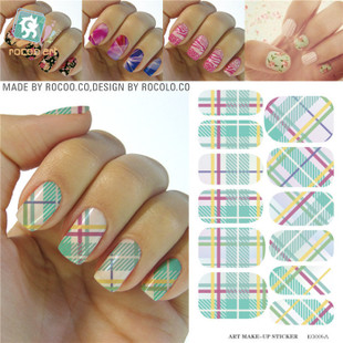KG005A Water Transfer Nail Art Sticker Green Manicure Striping Tape Design Nail Wraps Styling Tools Full Cover Decals Foi Cheap(China (Mainland))