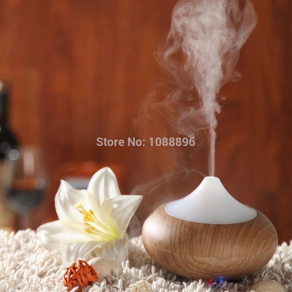 Wood Grain Aromatherapy Aroma Diffuser Ultrasonic Humidifier Air Purifier(China (Mainland))