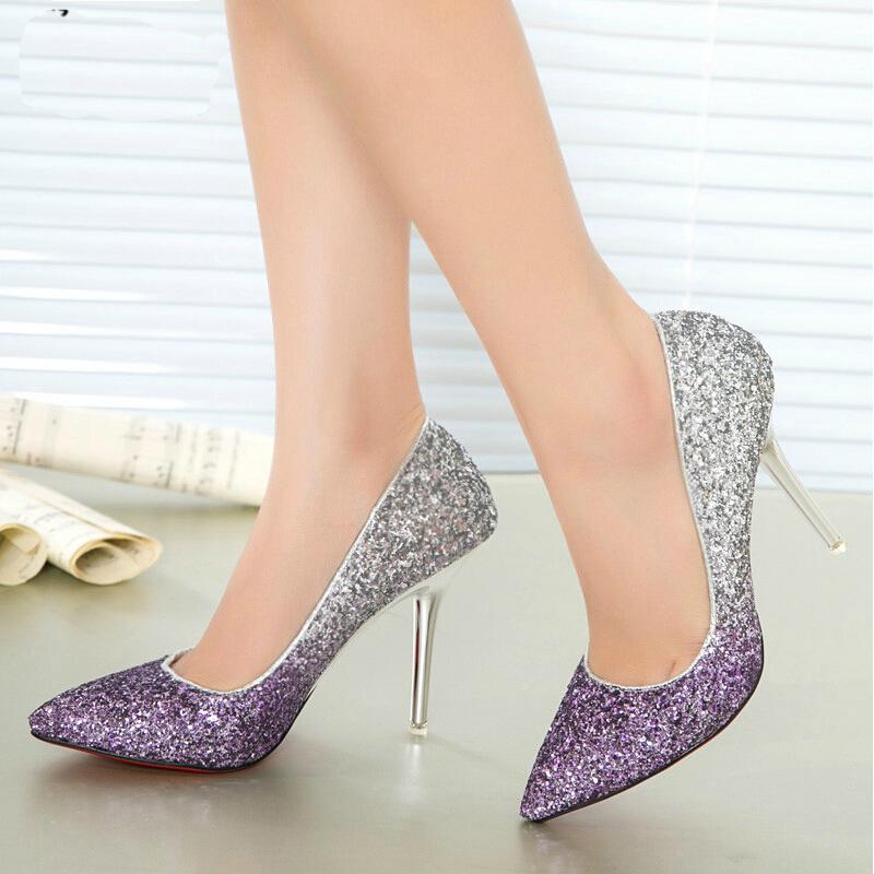 designer heels with red soles 0bgd  2015 Red Bottom High Heels Gradient Stiletto Designer Brand Sexy High Heels  Women Pumps Red Sole Prom Wedding Shoes Woman