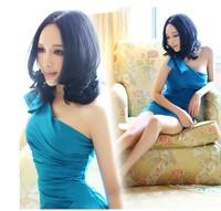 short design one shoulder formal dress