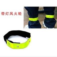 New Bike LED Safety Sports Reflective Belt Strap Snap Wrap Arm Band Armband