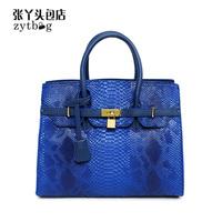 new fashion famous brand women's leather handbag women's shoulder bag Messenger bag clutch bag tote Crocodile platinum bag