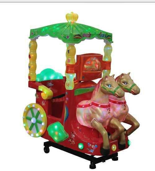 coin operated kiddie rides, rocking machine,Royal carriage(China (Mainland))