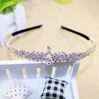 Fashion gold korean crown crystal hairband wedding headbands for women wedding hair accessories bridal headwear new 2015