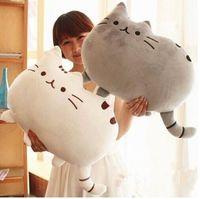 Soft Stuffed Plush Cute Cat Dog Face Throw Pillow Decor Cushion Toy Doll