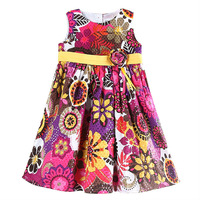 Baby Girls Party Dress Nova Summer Girls Princess Dress Floral Roupas Infantil Meninas Cotton Girls Clothes H5789