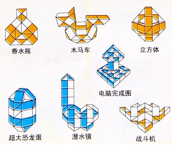 Фигуры из змейки рубика схема сборки шара