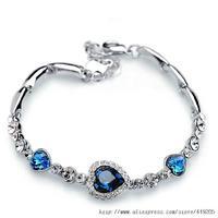 Korean jewelry explosion models Austrian crystal cordate bracelet factory direct cash