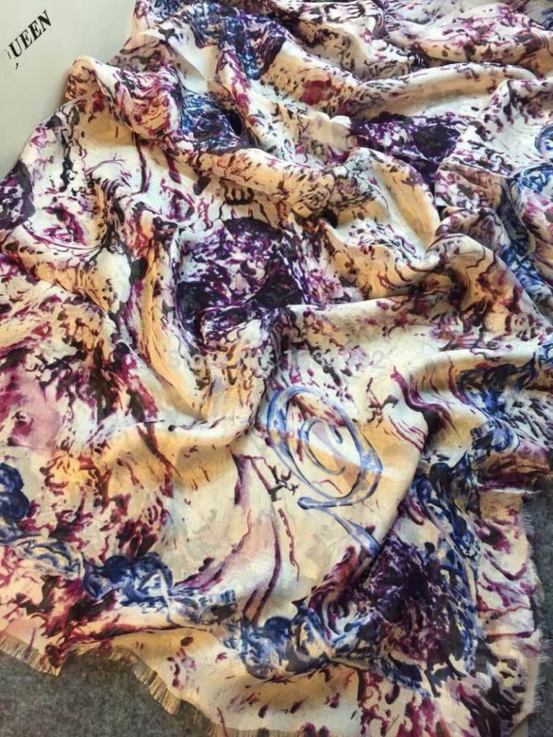 New 2014 Autumn Fashion Personality Women Scarves Female Casual Print Lovely Fluid Tassel Scarf Silk Lady Luxury Wrap Shawl Cape(China (Mainland))