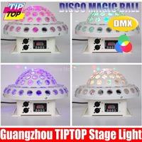 Digital LED RGB Crystal Magic Ball Effect Light DMX 512 DMX512 Full color Disco DJ party Stage Lighting Free Shipping 110V-240V