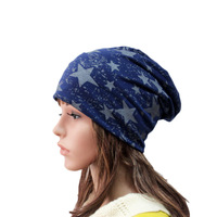 BEANIE Unisex Leisure Knitting Cotton  Beanies Hat with  Five-star -6Colors  #A-41
