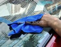 1 pcs Car wash cleaning Cloth 40cmx40cm blue Super Micro fiber glass towel high quality
