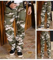 New Tactical Combat Pants Men's Cotton Military Camo Cargo Pants Casual Long jogger pants Fahion drop crotch pants Overalls