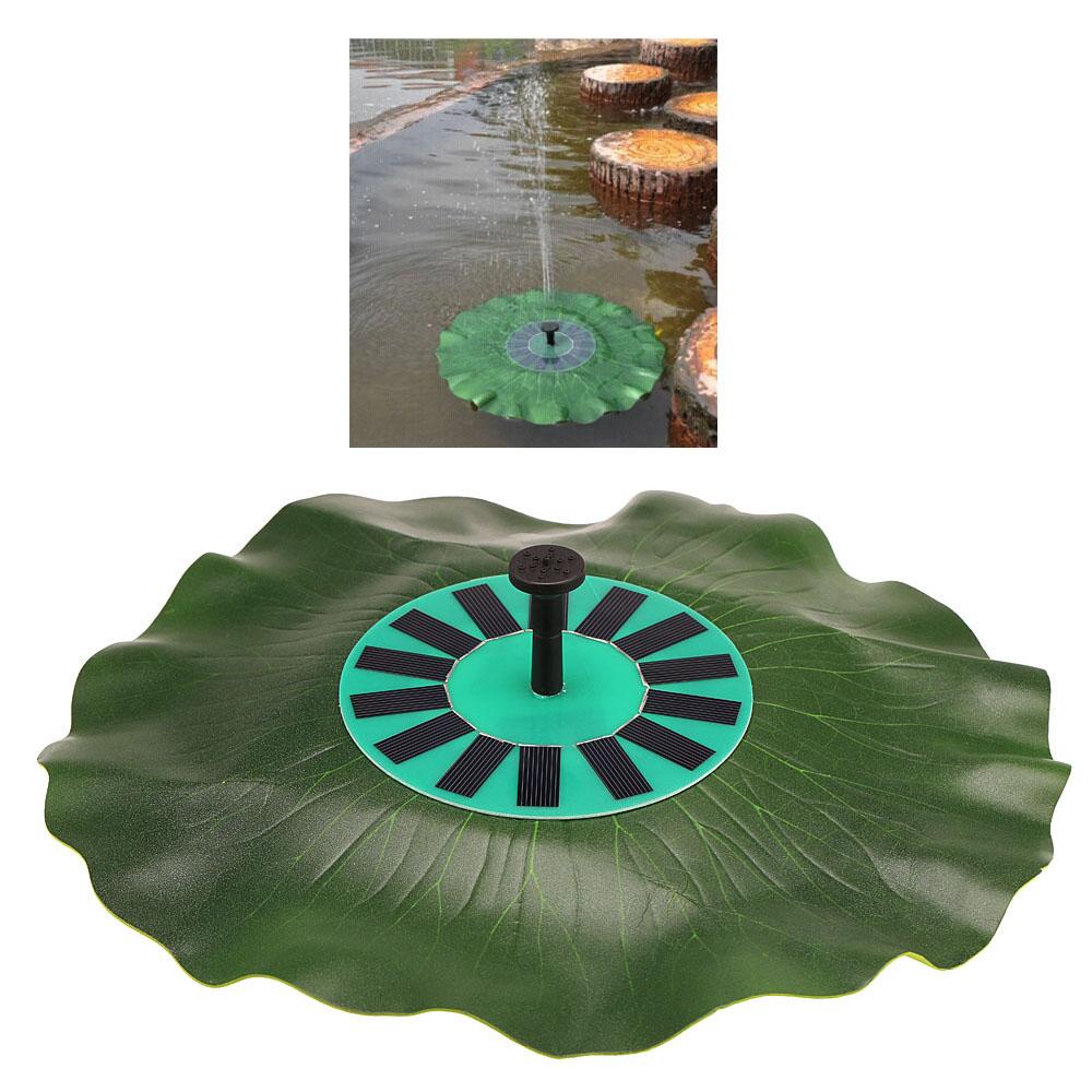 Solar-power Lotus Leaf Fountain Floating Brushless Decoration Pump Kit with Monocrystalline Solar Panel Bird Bath Garden Pond(China (Mainland))