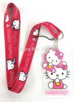 20pcs Hello Kitty Neck Strap ID Card Pin Clear Holder Lanyard Key Chain