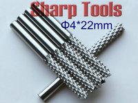 Hardest 4*22mm Corn Milling CNC PCB Bit Tungsten Carbide Cutter, Printed Circuit Boards PCB End Mill Cutter on Wood Glass Fiber