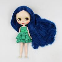 12 inch b female doll nude Blyth doll modified DIY deep blue long hair big eyes doll 1/6 bjd dolls for sale