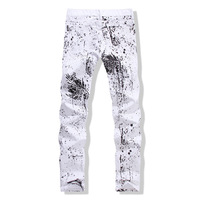 2015 new Slim version tide male Korean flower pants