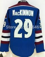 Wholesale Hockey Colorado 29# Nathan MacKINNON blue jerseys, please read size chart before order