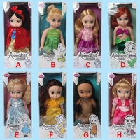 Hot 16''Animators Collection Princess Snow White Mermaid Cinderella doll PVC Action Figures children girl baby Toys gift.8 model