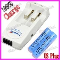 TrustFire US Plug Charger + 2 PCS 18650 28000mAh Battery