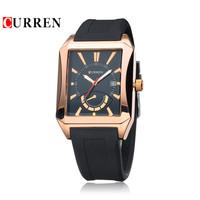 Watch Men Curren Brand Men's Quartz Analog Watch with Date Display & Rubber Strap Men Sports Watches Reloj Hombre Marca De Lujo