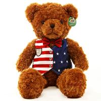 Niuniu Daddy Plush toy teddy bear Shirt plush bear Gifts for boys 27.5(inch)