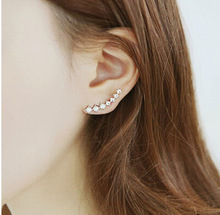 Seven stars Earrings Rhinestone Trendy Jewelry Beautifully Ear Accessories Earring Zircon Sparkling Crystal Trinkets