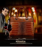 2015 Luxurious GENUINE LEATHER Cowhide Men's Bag Business Messenger Portable Briefcase Laptop Casual Purse Handbag