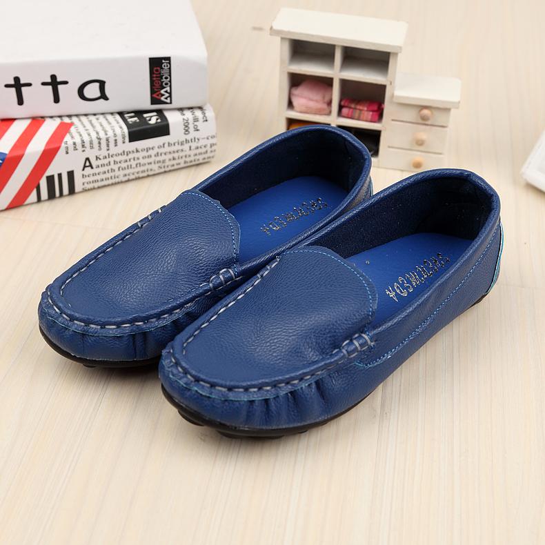 Sallei 15 sapatos de barco de couro curta crianças meninos e meninas sapatos infantis sandálias doces coloridos gommini(China (Mainland))