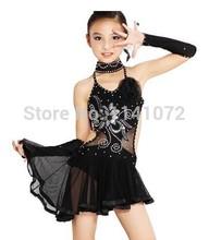 2015 Girl Latin Dance Dress Mermaid Mini Latin Tango Child Costume Dancing Clothing Ballroom Dancing Dress 70-160 cm(China (Mainland))