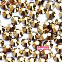 ss4 (1.4-1.6mm) Gold Glue On Rhinestones for Nail Art, 1440pcs/Pack, Flat Back Non Hotfix Nail Art Rhinestones 3d  Decorations